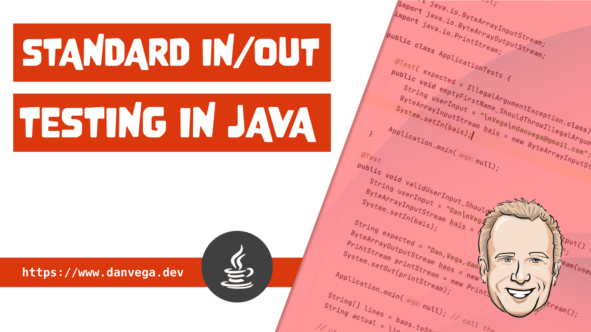How to test standard in and out in Java